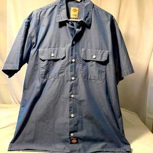 🆕 Dickies SS Button shirt W/Pockets Sz.Lrg.